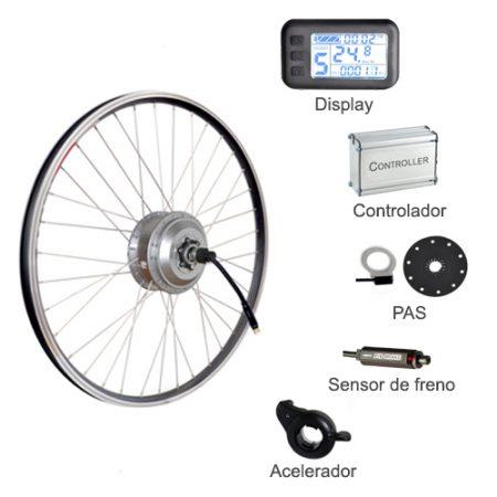 Kits bicicleta electrica con motor de buje